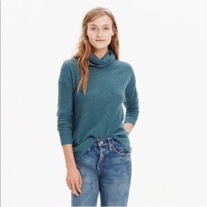 Madewell Ribbed Wool Blend Cowl Neck Sweat…